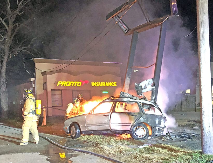 wild ride ends with pronto fire uvalde leader news wild ride ends with pronto fire
